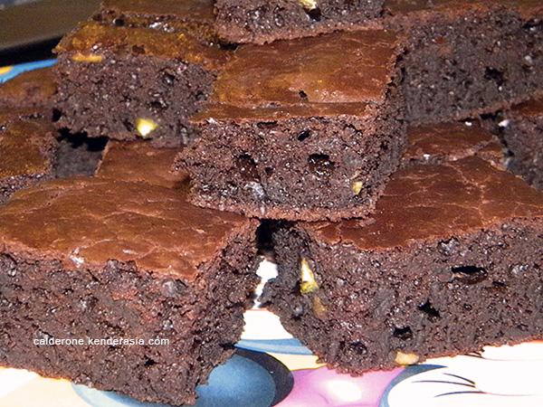 brownies cioccolato fondente e pistacchi
